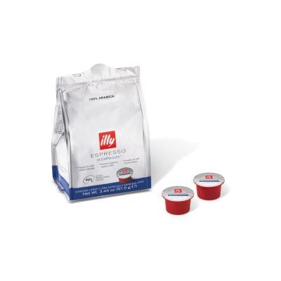 Two capsules and a bag of Mitaca M4 lungo capsules
